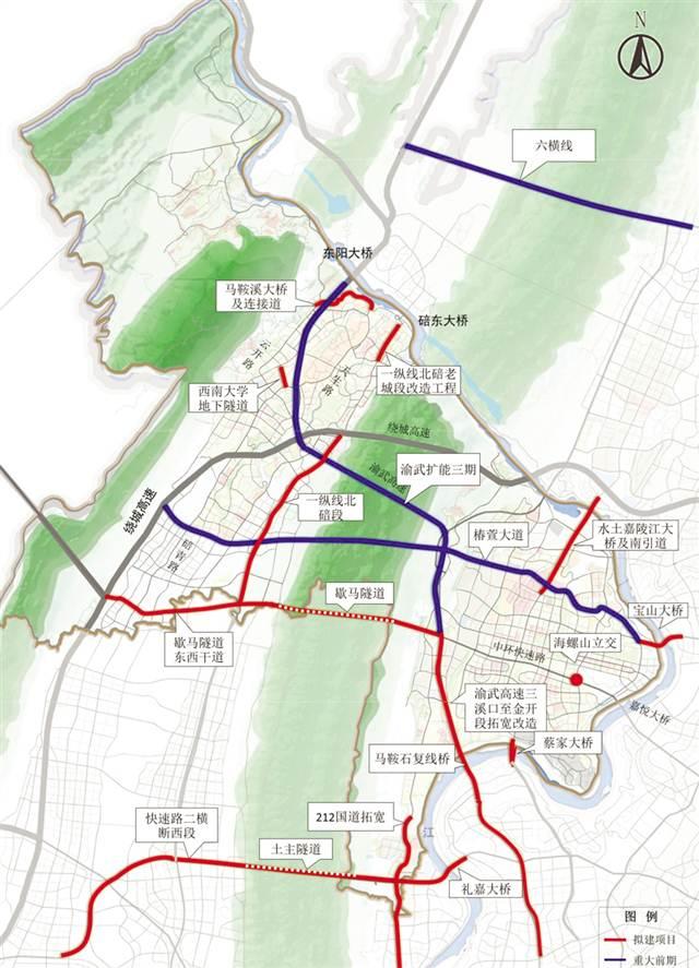 重庆主城旅游景点地图