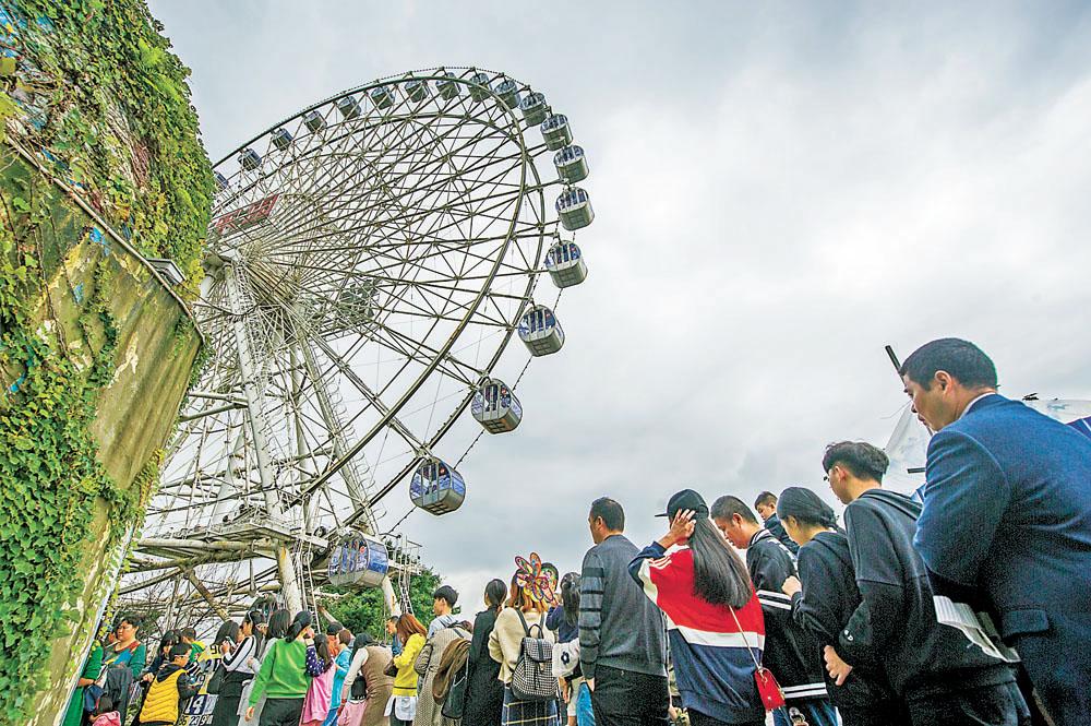 """重庆游乐园摩天轮""""退役""""图片"""
