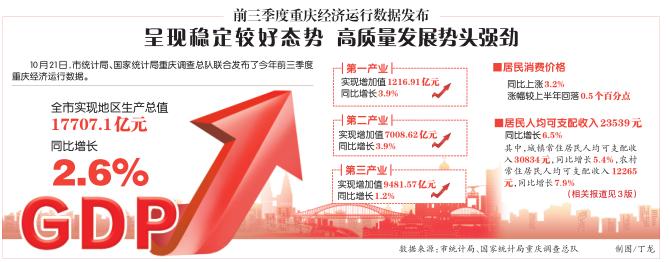 前三季度重庆经济运行数据发布