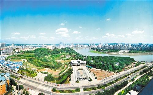 """投资35亿元的内江""""乐贤半岛综合开发(城市建设)项目""""正式拉开帷幕."""